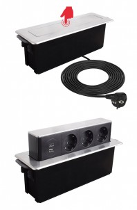HOP BOX - Priza incastrabila, cu porturi USB