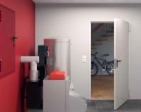 Usa de interior pentru subsoluri incalzite, cu protectie impotriva incendiului - H8-5