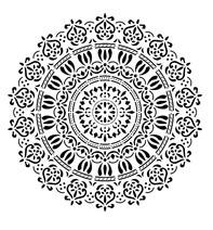 Sablon decorativ 3D, Spring Mandala, reutilizabil