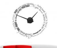 Sticker tip ceas de perete cu mesaje
