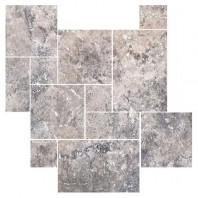 Travertin Silver French Pattern Set x 1,2 cm