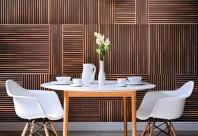 Panouri decorative din fasii de lemn lipite pe mdf - ©PLADEC Slate Panels Collection