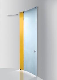 Usa glisanta, panou curb, model Bi•color vertical