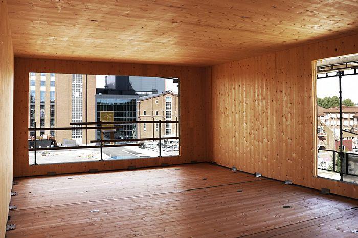 A fost construită cea mai înaltă clădire din lemn din Suedia