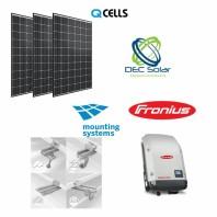 Kit fotovoltaic prosumator on grid 10,8 kWp Q CELLS Trifazat