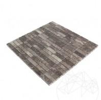 Mozaic Marmura Dark Emperador Polisata 4.8 x 1.5 cm MPN-2018
