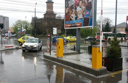 Masina intrand in parcarea Moldova Mall  Iasi TRITECH GROUP