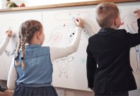 TECOSMART Whiteboard High Gloss - Folie alba lucioasa cu suprafata whiteboard la dimensiuni standard 62x230 cm