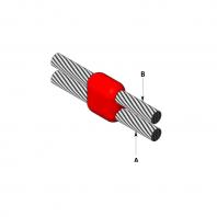 Conexiune sudata exotermic intre doua conductoare cupru paralela verticala