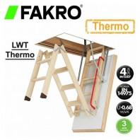 Scara din lemn pentru acces in pod - FAKRO LWT Thermo