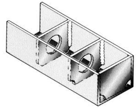 Fig. 5 Orificiile de evacuare în colțuri  sunt necesare pentru pătrunderea corespunzătoare a zincului