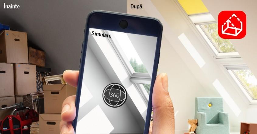 VELUX lansează MyDaylight, prima aplicație de mobil pentru renovarea mansardei cu realitatea virtuală