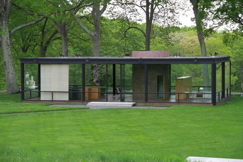 Casa din sticla din Connecticut, de Philip Johnson