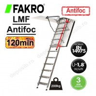 Scara metalica pentru acces in pod, rezistenta la foc - FAKRO LMF