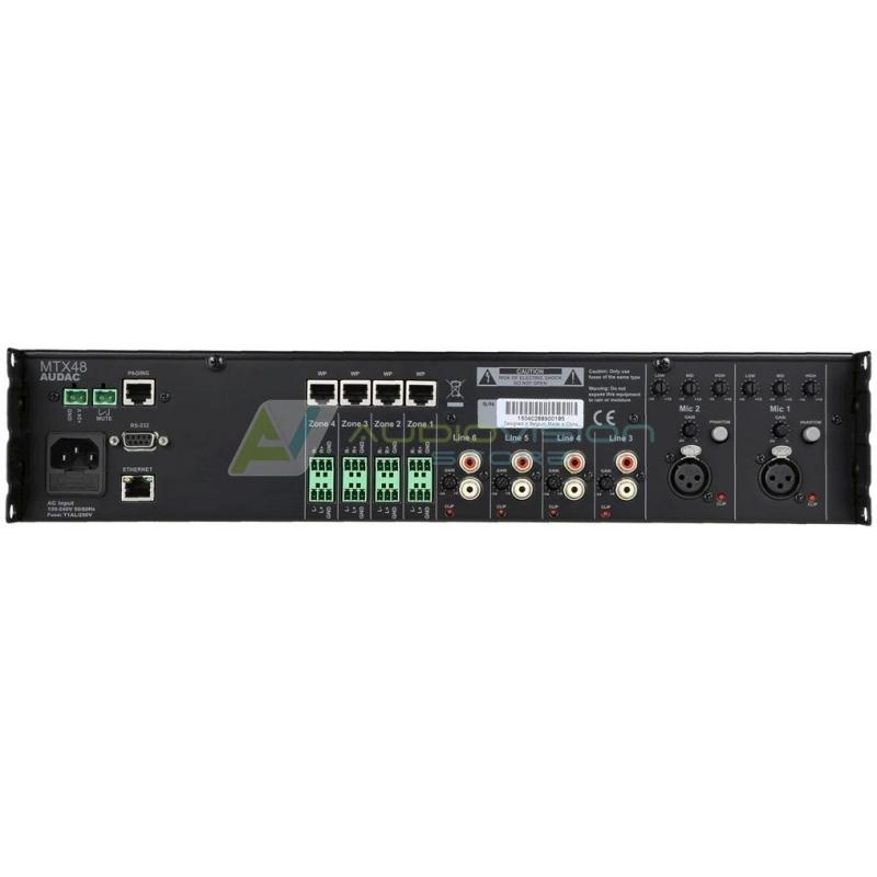 Matrice audio 4 zone Audac MTX48