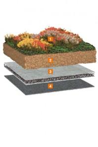 Pachet standard pentru acoperis cu vegetatie - Bauder Gründach-Paket 100 kg