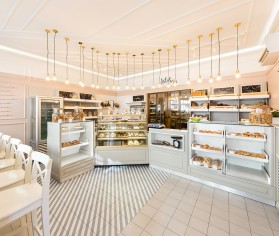 Design interior brutarie artizanala atelier, Galati