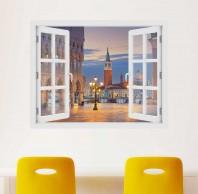 Fereastra cu efect 3D - Piata Sf. Marcu din Venetia - 119x93 cm