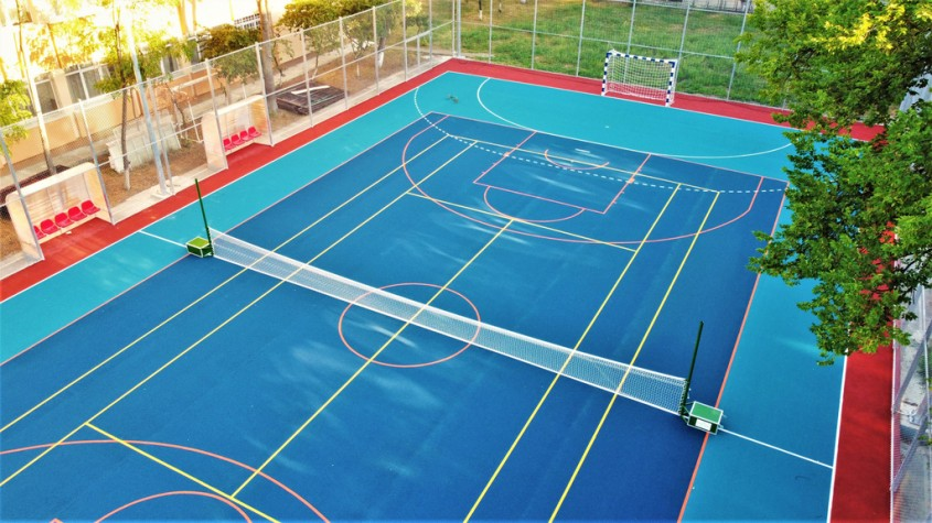 Sisteme turnate tip tartan pentru terenuri tenis