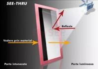 Plexiglas oglinda - SEE -THRU