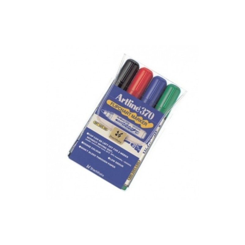 Marker Flipchart Artline 370 mm set 4