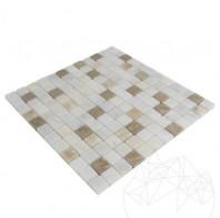 Mozaic Marmura Alba - Onix - Emperador Mix Polisata 2.3 x 2.3 cm MPN-2010