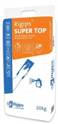 Glet de finisare Rigips® SUPER TOP - Suprafete interioare nivelate in prealabil gips-carton aplicare mecanizata (cu