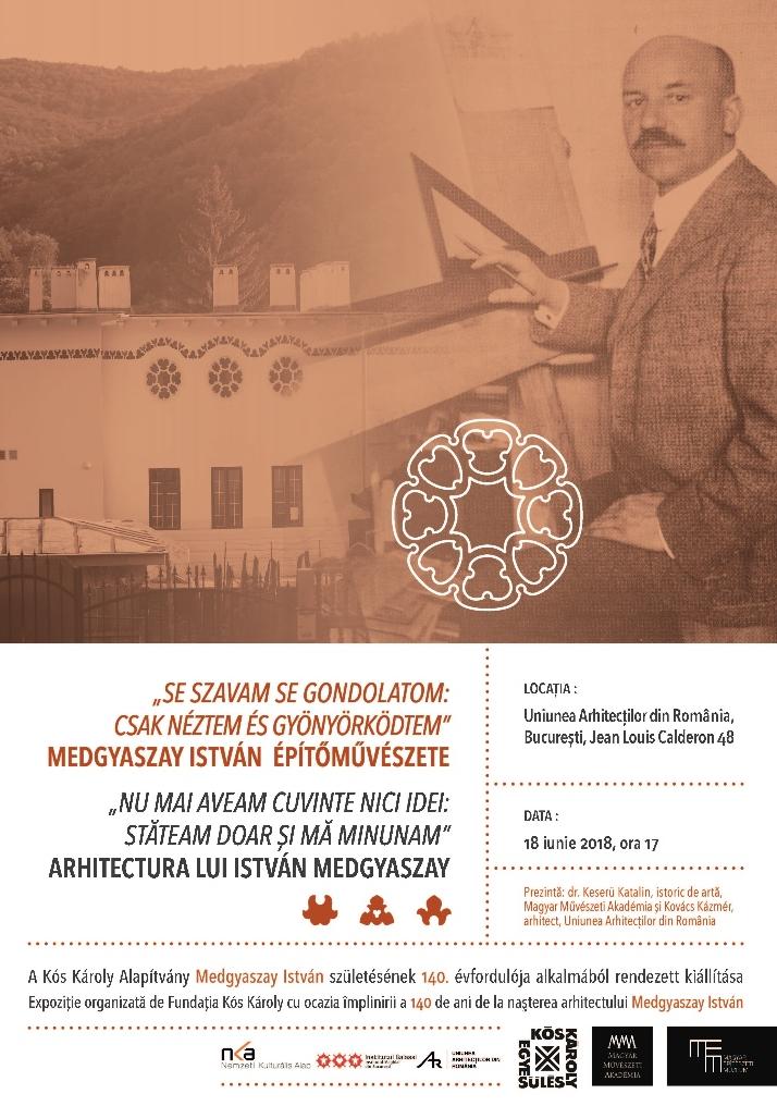 Uniunea Arhitecților din România anunță deschiderea expoziției István Medgyaszay