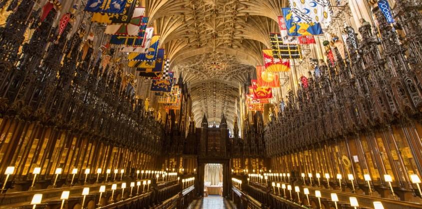 În interiorul Capelei St. George, bijuterie a arhitecturii gotice care va găzdui nunta regală