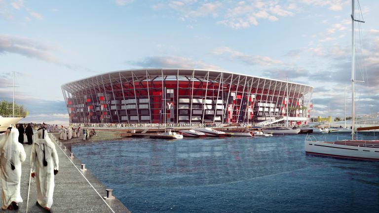 "<b>5. Un stadion demontabil in Quatar</b> <p style=""text-align: left;"">Proiectat de Fenwick Iribarren Architects, stadionul va avea 40.000 de locuri, urmand sa fie gata pana la Cupa Mondiala din 2022.</p> <p style=""text-align: left;"">&nbsp;</p> <p style=""text-align: center;""><em>Randare:&nbsp;<a target=""_blank"" href=""http://www.fenwickiribarren.com/en/proyecto/rasabuaboud.html#"">Fenwick Iribarren Architects</a></em></p>"