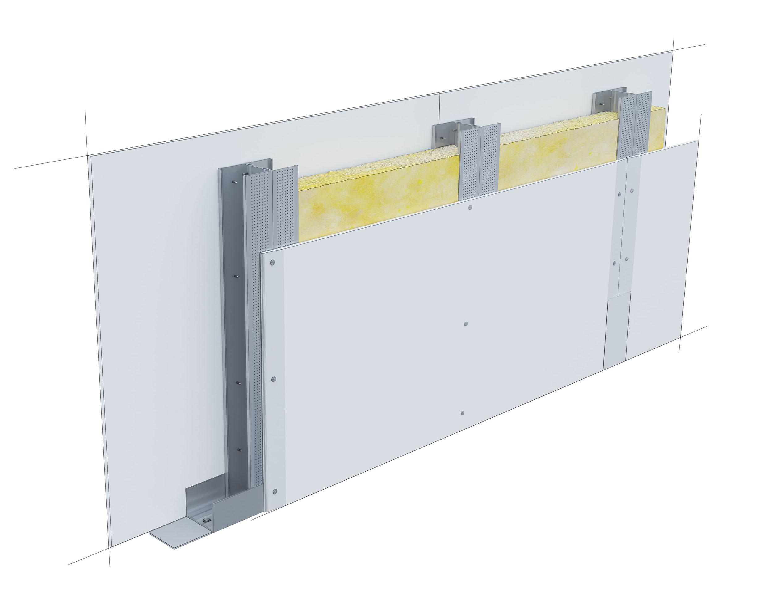 Perete D75, CW50-H@60, 2x1 Standard 12.5 + MW