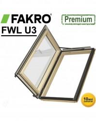 Fereastra acces acoperis izolata+rama Fakro FWL 66 x 118