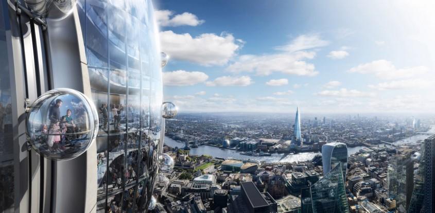 Un zgârie-nori ca o lalea, cu un carusel în vârf, ar putea fi construit în Londra