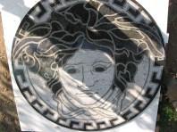 Medalion pentru pardoseala - Capul Medusa SIDORA