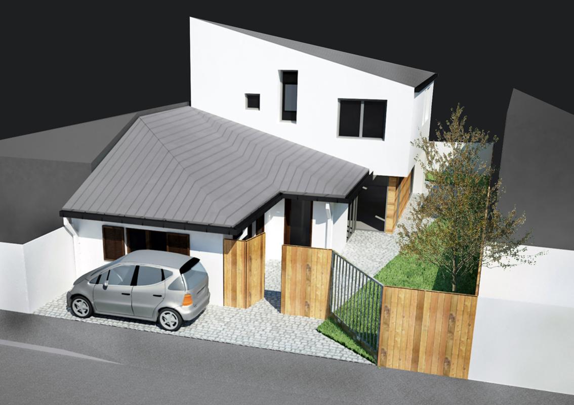 Extindere locuinta existenta Parter in Parter + Mansarda - Bucuresti, str. Ramasagului AsiCarhitectura
