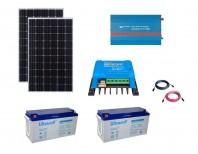 Kit Fotovoltaic Off-Grid 600W cu invertor de 1200VA