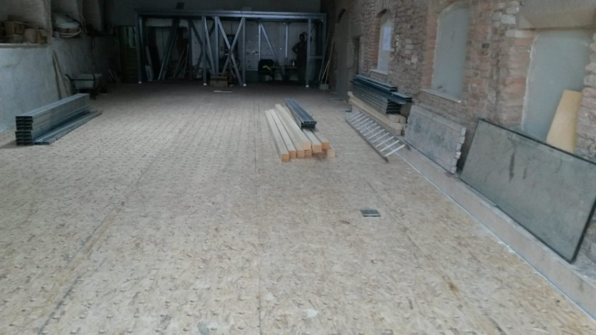 Placi OSB perforat montate  Restaurant La Ceaun, Brasov TIEMME SYSTEMS