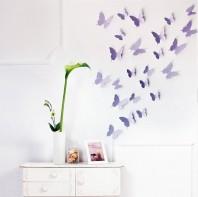Fluturi 3D Violet Lavanda - WALPLUS