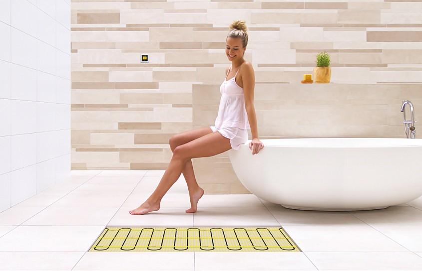 Aplicatii pentru baie - incalzirea prin pardoseala pentru baie