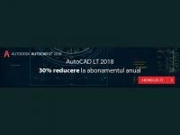 Flash Promo - 30% reducere la AutoCAD LT 2018