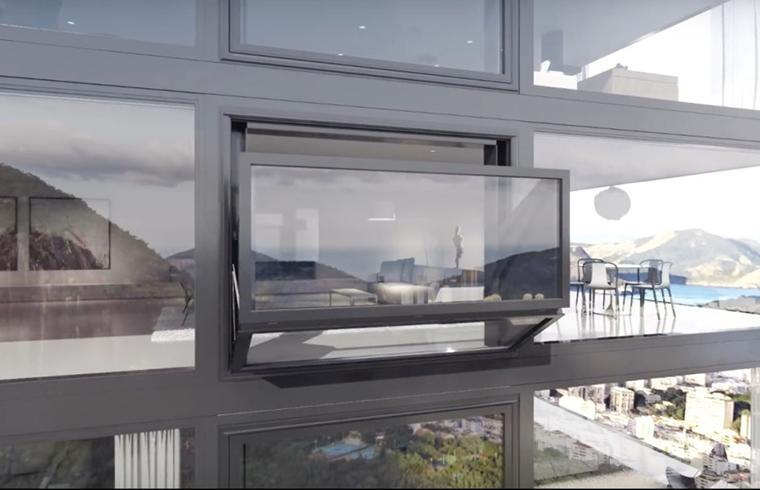 O fereastra care se transforma cu usurinta in balcon