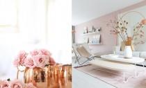O combinatie interesanta: nuante pastelate de roz si elemente din cupru