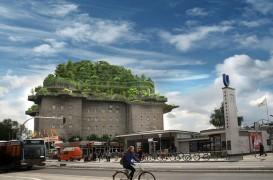 """Un buncăr vechi din al doilea razboi mondial se transformă într-un """"munte"""" verde"""