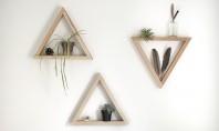 Decorativ si practic rafturi triunghiulare Iata un proiect pentru niste decoratiuni folositoare triunghiurile din lemn vor