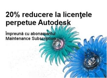20% reducere la licentele perpetue Autodesk