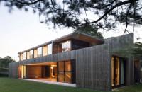 Exterior placat cu lemn de cedru pentru interioare linistite