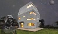 Casa cu arhitectura futurista si interioare vesele Daca ati visat vreodata sa locuiti intr-o galaxie indepartata