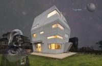 Casa cu arhitectura futurista si interioare vesele