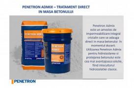Penetron Admix - Tratament direct în masa betonului