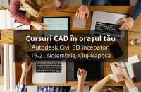 Cursuri de instruire CAD în orașul tau! Continuam seria cursurilor CAD, iar in perioada 19 - 21 noiembrie, revenim la Cluj-Napoca.